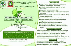 World Enviroment Day 2020 Virtual Conference Flyer