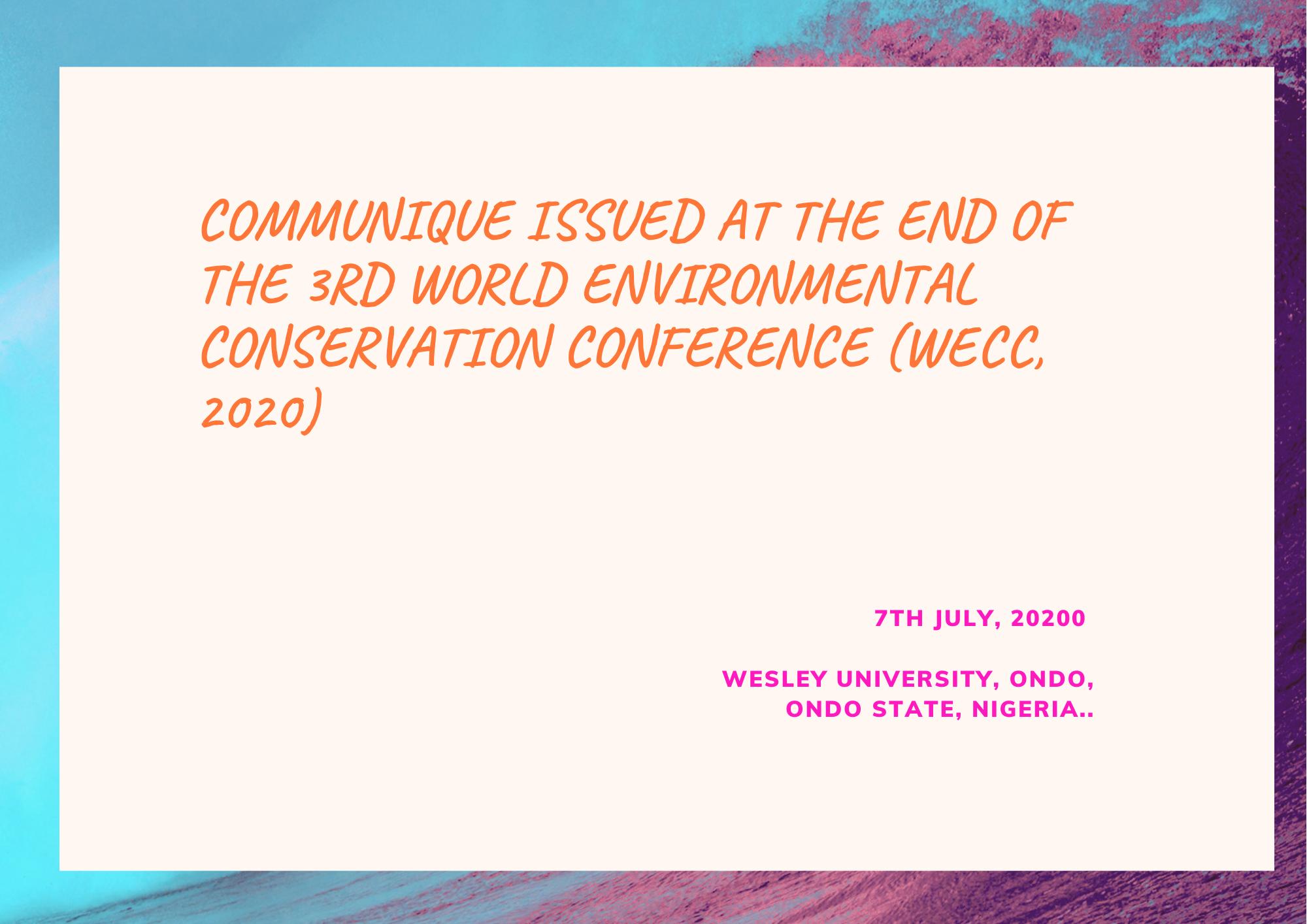 environmental conservation organization in nigeria